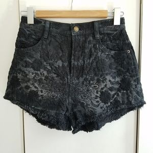Free people size 26 high rise embroidery shorts